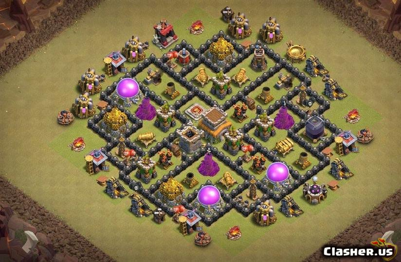 Town Hall 8] Best TH8 War base [With Link] [7-2019] - War Base - Clash of  Clans | Clasher.us