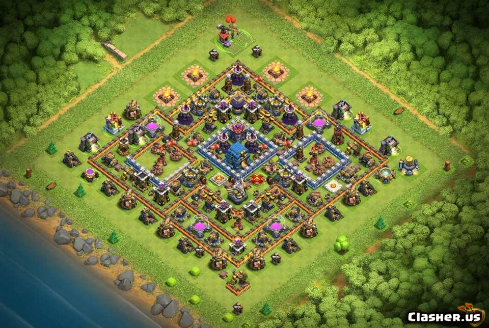 Town Hall 12] a best Th12 WAR, Farm layout [With Link] [7-2019] - Farming  Base - Clash of Clans | Clasher.us
