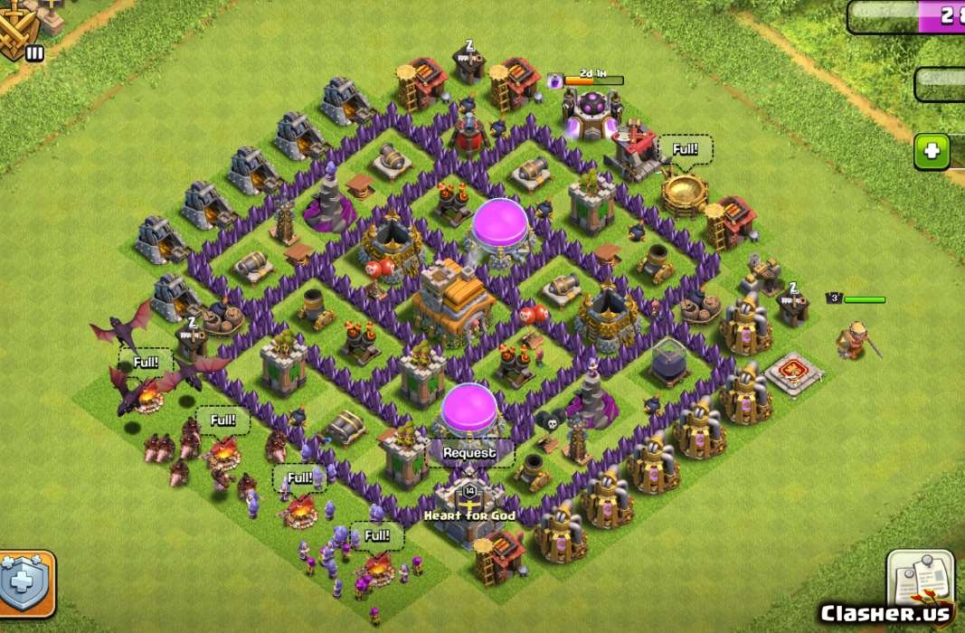 Town Hall 7 A Best Th7 Trophy Farming Base With Link 7 2019 Farming Base Clash Of Clans Clasher Us