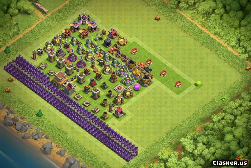 Town Hall 8] Good progress base for th8 [With Link] [7-2019] - Hybrid Base  - Clash of Clans | Clasher.us