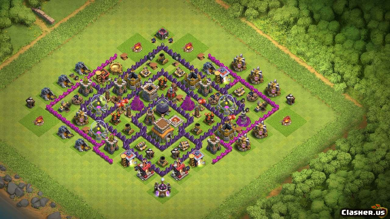 Town Hall 8] Th8 best base v1 [With Link] [8-2019] - Farming Base - Clash  of Clans | Clasher.us
