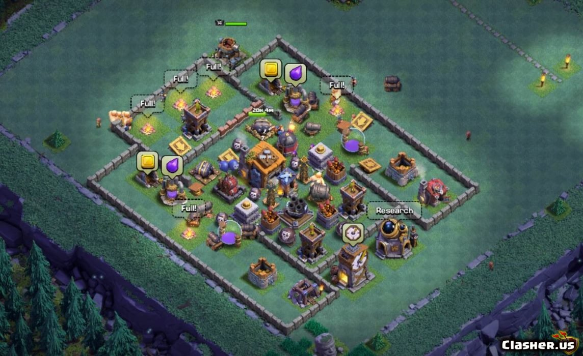 Builder Hall 7 Bh7 Best Base V1 With Link 8 2019 Clash Of Clans Clasher Us