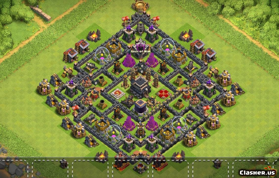 Copy Base [Town Hall 9] Th9 Best Base pro v18 [With Link] [9-2019] -  Farming Base - Clash of Clans | Clasher.us