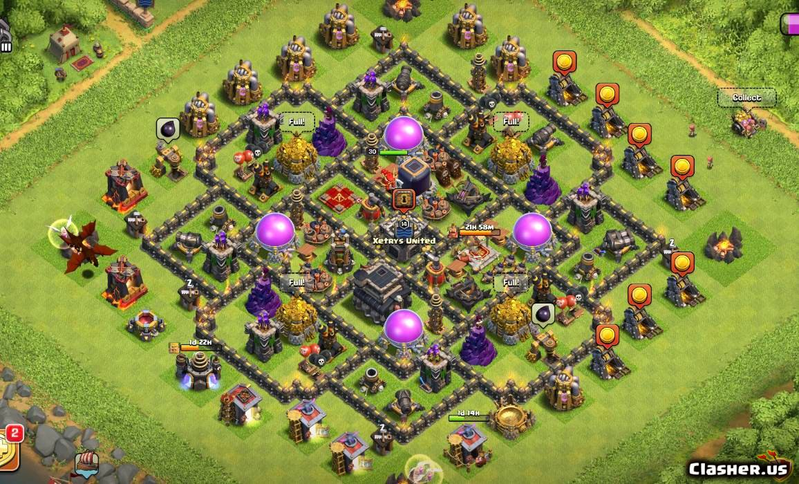 Town Hall 9] Th9 Best Base pro v21 [With Link] [9-2019] - Farming Base -  Clash of Clans | Clasher.us