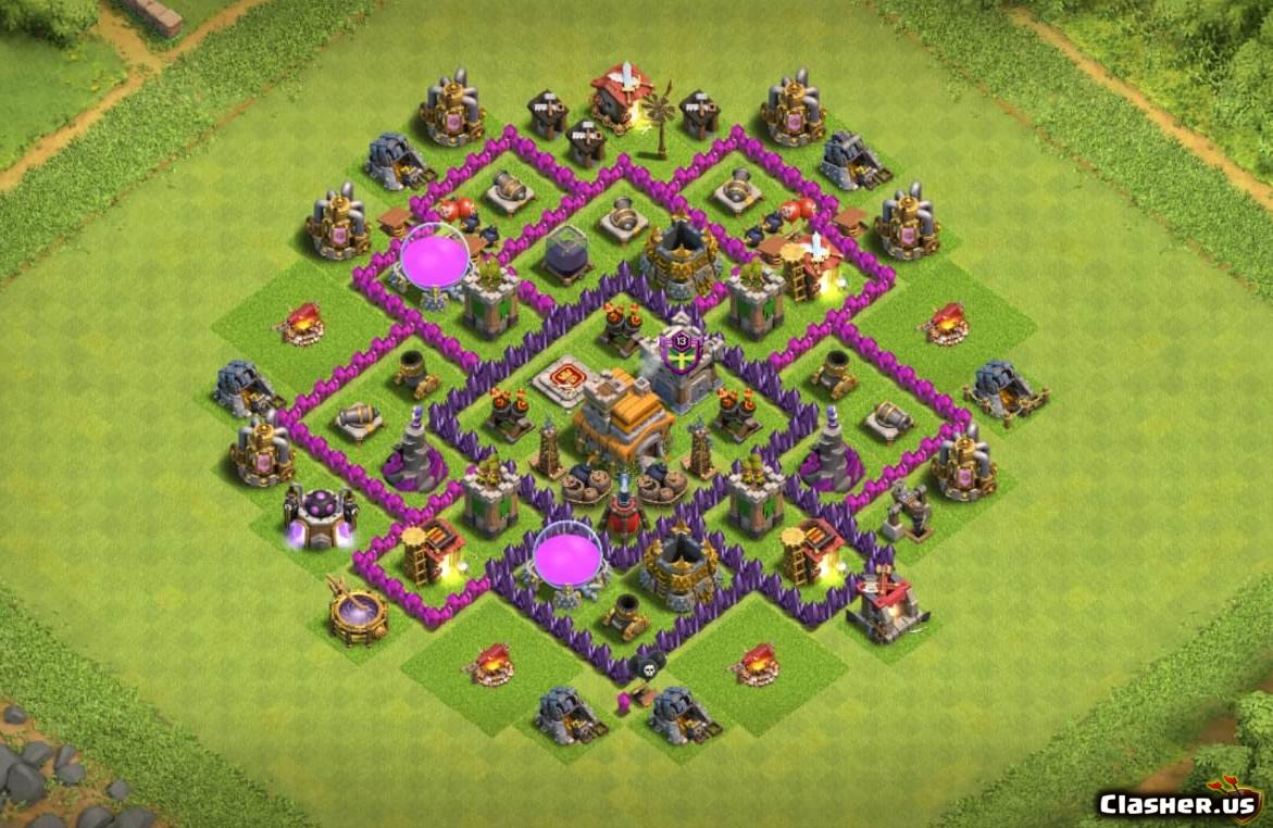 Town Hall 7] TH7 Best Base v8 [With Link] [9-2019] - Farming Base - Clash  of Clans | Clasher.us