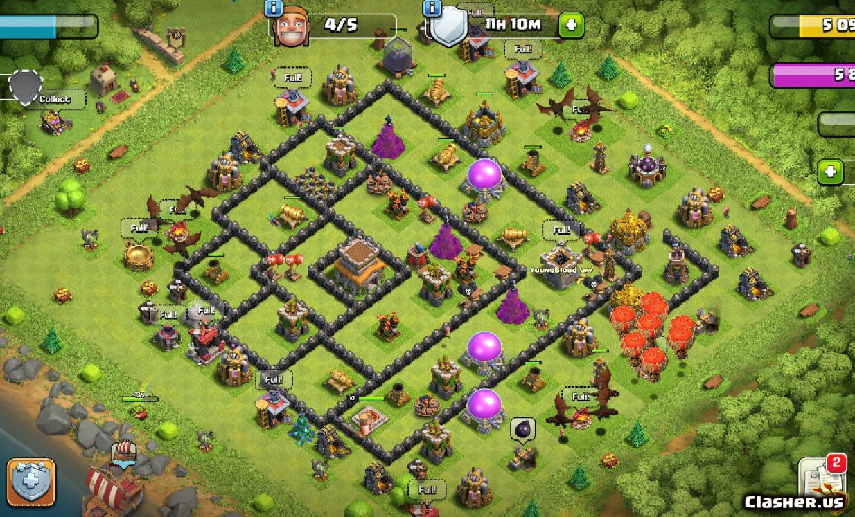 Town Hall 8] TH8 War Base V31 [With Link] [10 2019] War