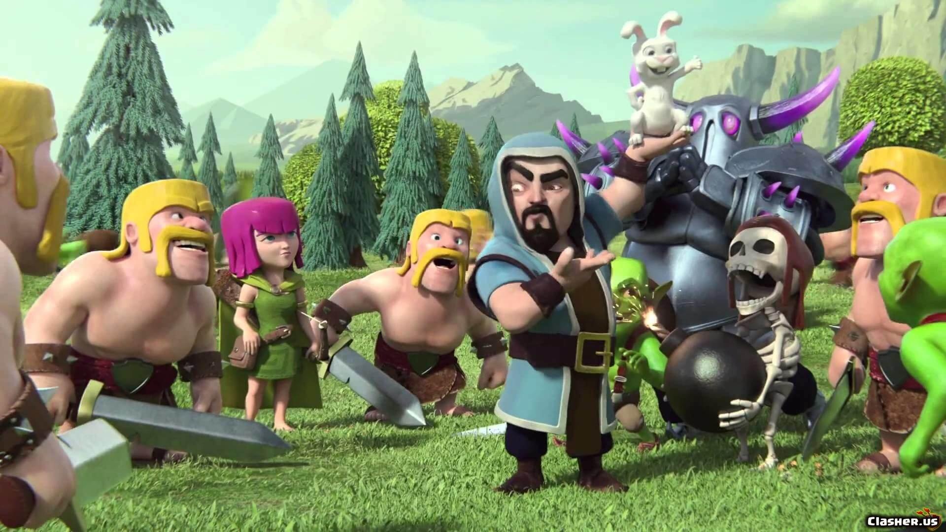 Wizard Rabbit Wall Breaker Archer Barbarian Pekka Clash Of
