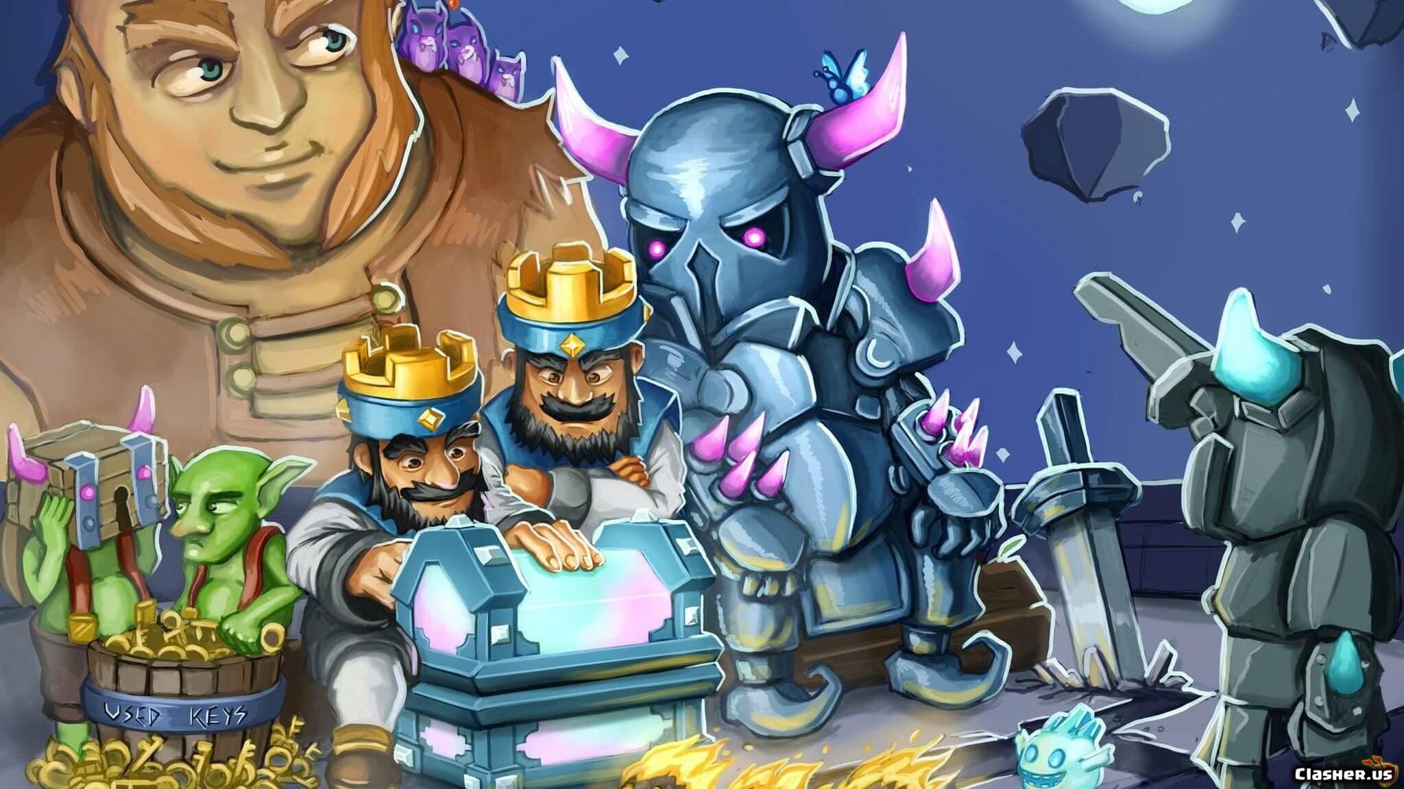 Nice Art Drawing King Mini Pekka Giant Clash Royale