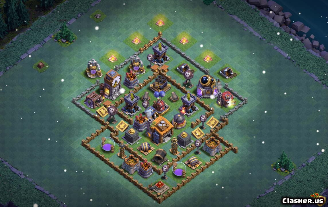 Builder Hall 7 Bh7 Best Base V21 With Link 11 2019 Trophy Base Clash Of Clans Clasher Us