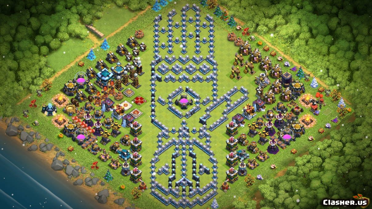Town hall 13] th13 fun troll progress base infinity gauntlet.