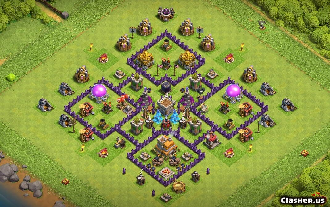 Town Hall 7 Th7 Trophy War Farm Base 4 Island With Link 3 2020 Farming Base Clash Of Clans Clasher Us