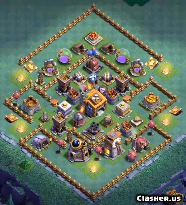 Builder Hall 7 Bh7 Best Base 62 With Link 6 2020 Farming Base Clash Of Clans Clasher Us