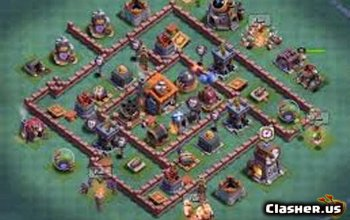 Builder Hall 7 Coc Base Layouts Links Clash Of Clans Clasher Us